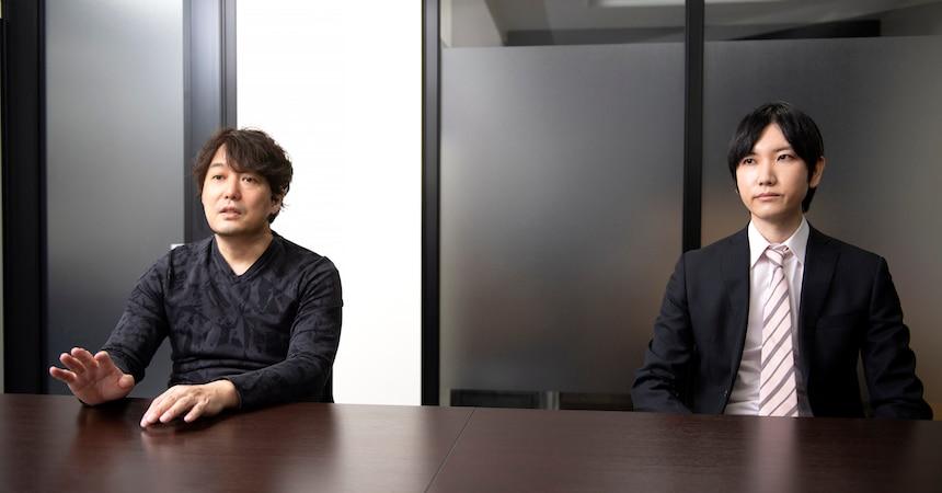 イザナギゲームズ代表取締役/プロデューサー 梅田 慎介氏(左)、東京フレックス法律事務所 中島 博之弁護士